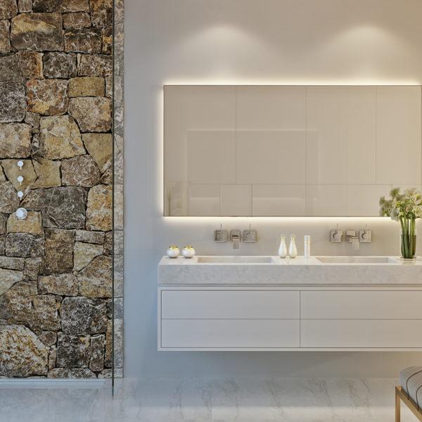 Palo Alto Marbella Apartments Master Bathroom