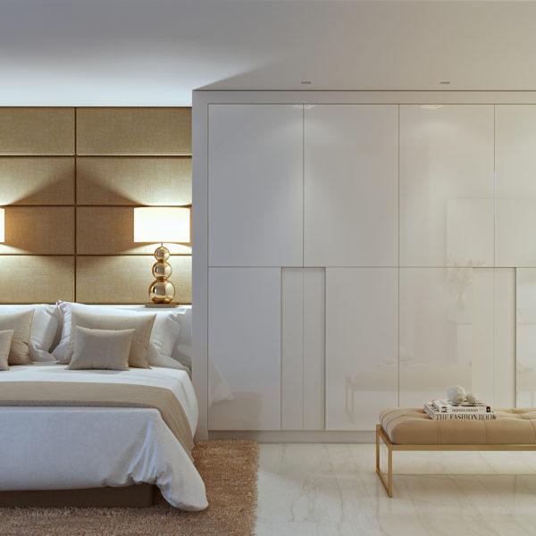 Master Bedroom in Palo Alto 'Las Jacarandas' Marbella Apartments