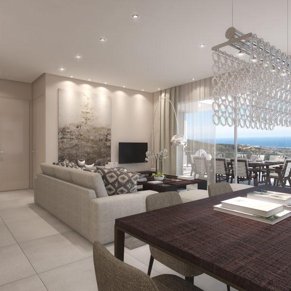 Palo Alto Penthouse 'Los Almendros' Living room