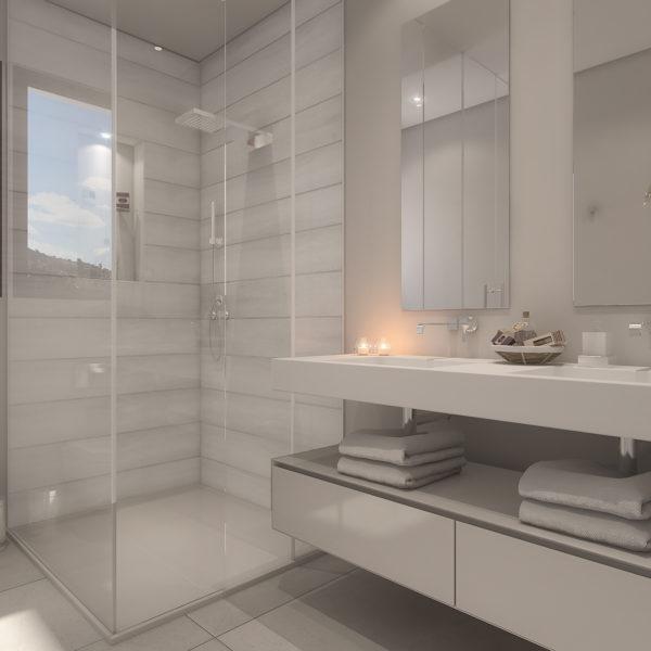 Palo Alto 'Los Almendros' Penthouse Master Bathroom