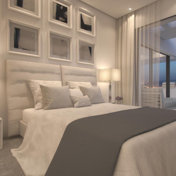 Master bedroom Penthouse Palo Alto Ojen Marbella