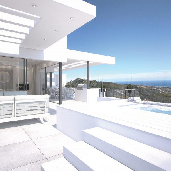 Palo Alto Marbella 'Los Almendros' Penthouse terrace