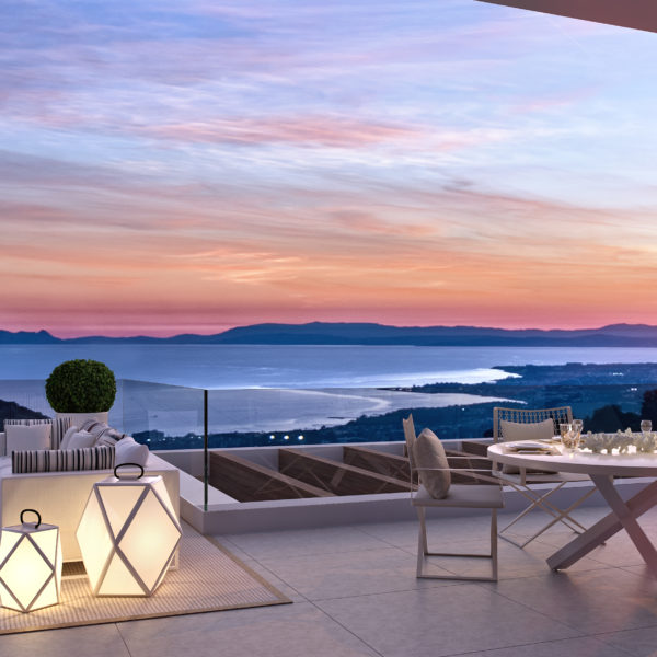 Palo Alto Apartment with large terrace and amazing seaview